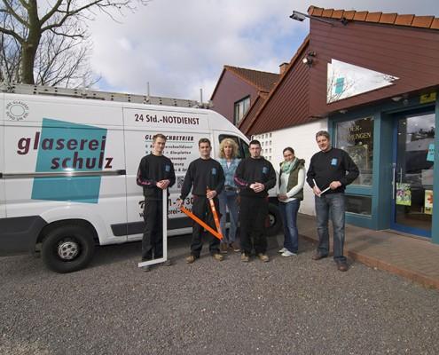 Foto vom Team der Glaserei Schulz aus Kiel Heikendorf