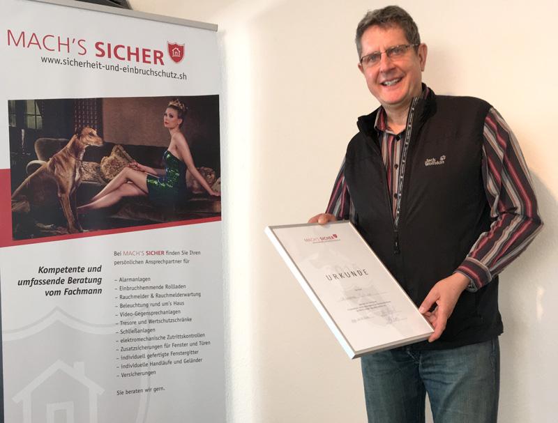Die Glaserei Schulz aus Kiel Heikendorf ist Partner von Mach's Sicher