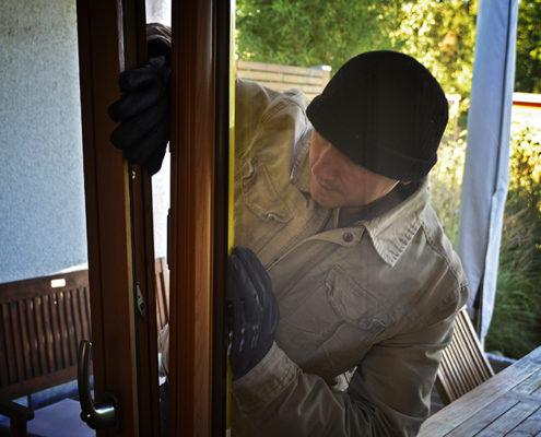 Foto eines Einbrechers