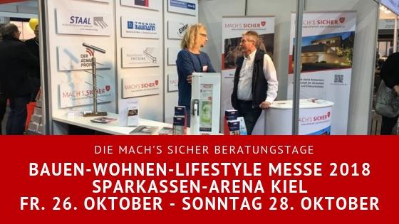 Mach's Sicher auf der Bauen-Wohnen-Lifestyle Messe Kiel